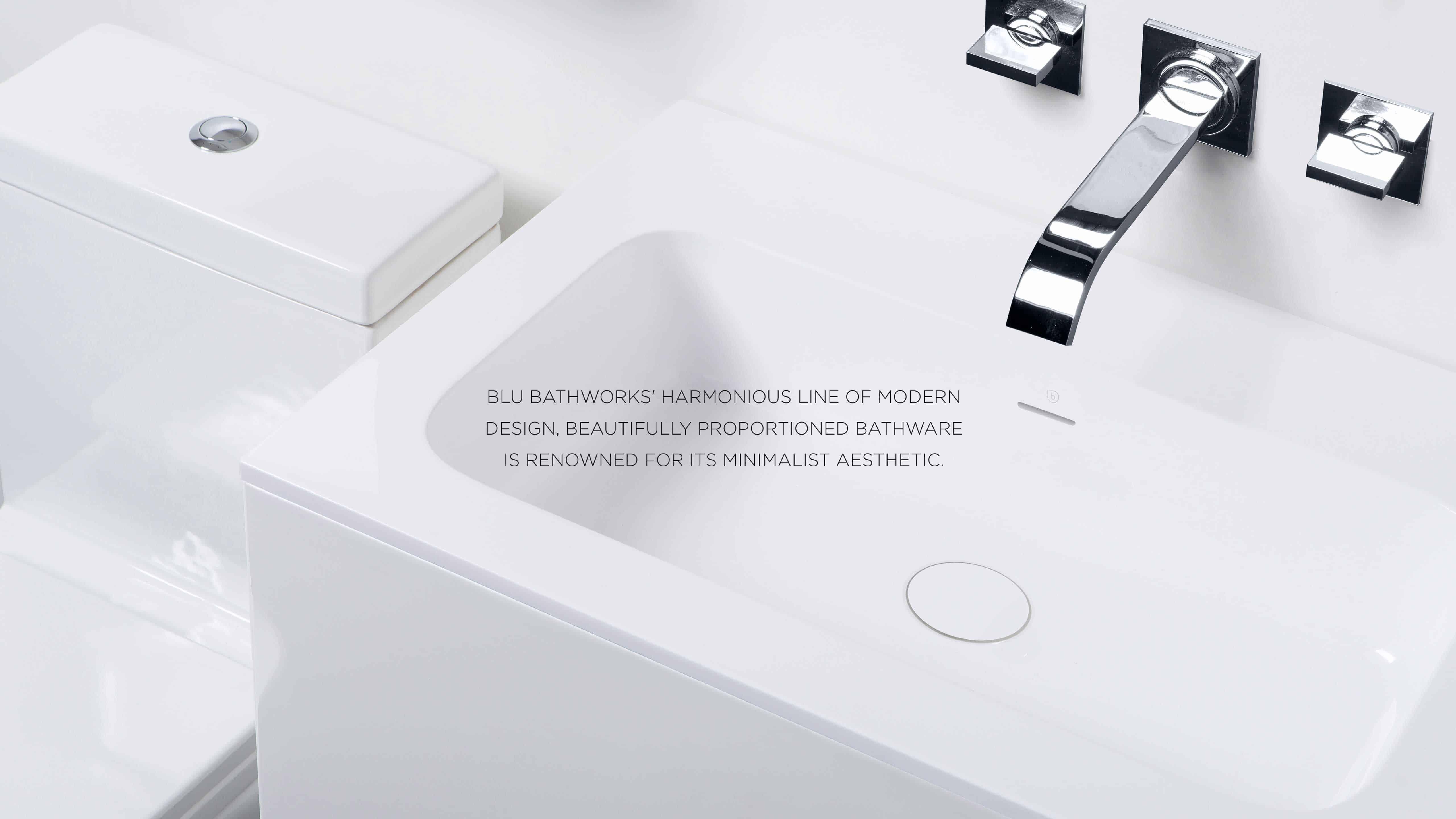 Brand Logo Visual Communications Blu Bathworks Coastlines Creative